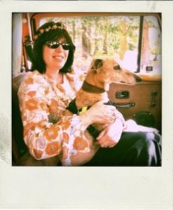 Enjoying Lady Marmalade our VW Camper van.Summer 2011